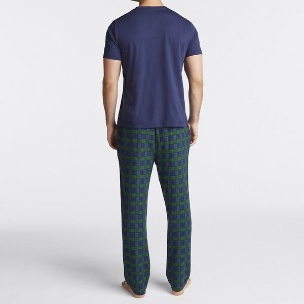 PLAID PANTS PYJAMA SET, JUST NAVY, hi-res
