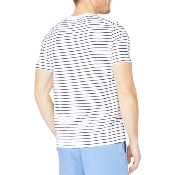 Striped Jersey Tee, Bright White, hi-res