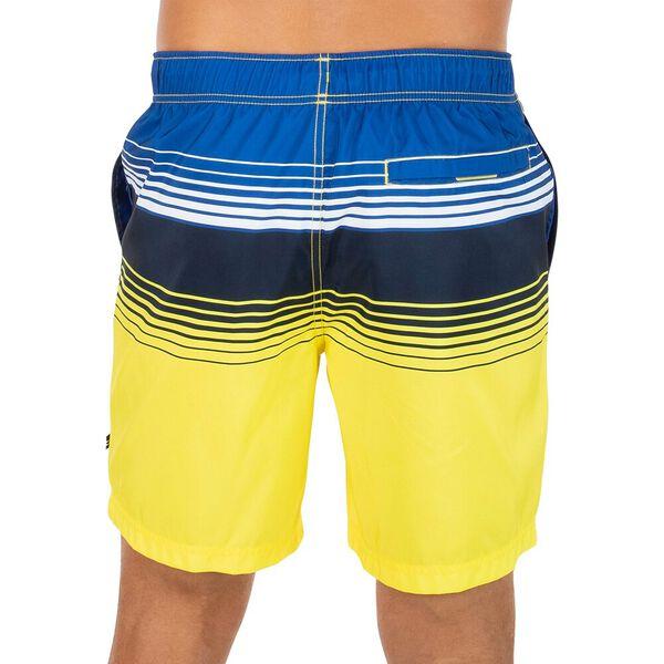 Nautica Stripe Block Swim Shorts, Blazing Yellow, hi-res