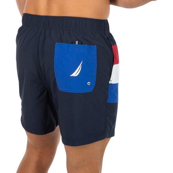 Nautica Turn The Block Swim Shorts, Navy, hi-res
