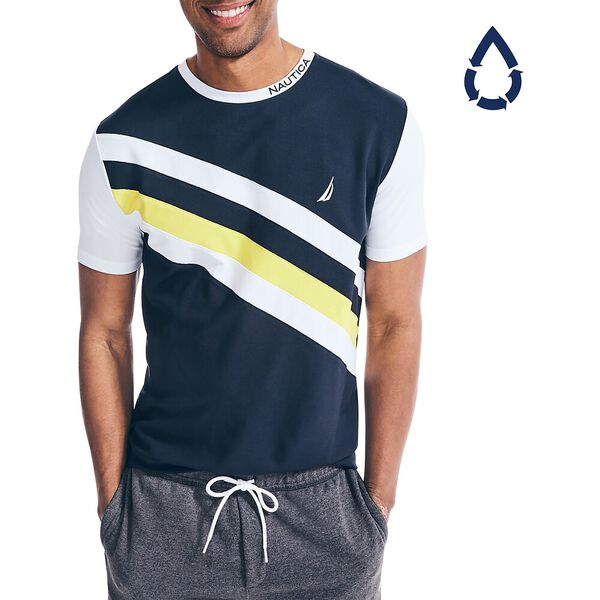 Sustainably Crafted Sash Tee, Navy, hi-res