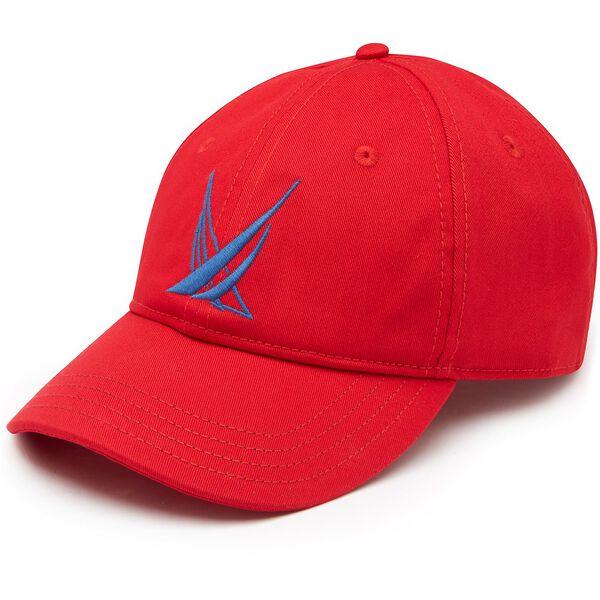 BLUE SAIL LARGE LOGO BASEBALL CAP, NAUTICA RED, hi-res