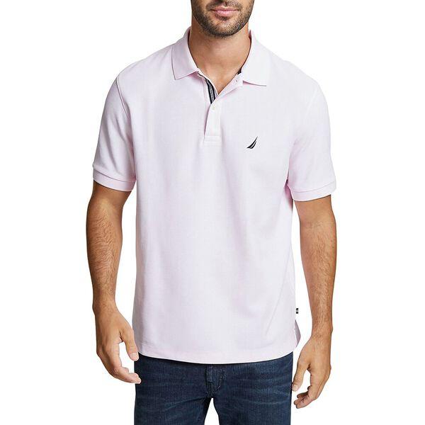 Classic Fit Solid Mesh Polo Shirt, Cradle Pink, hi-res