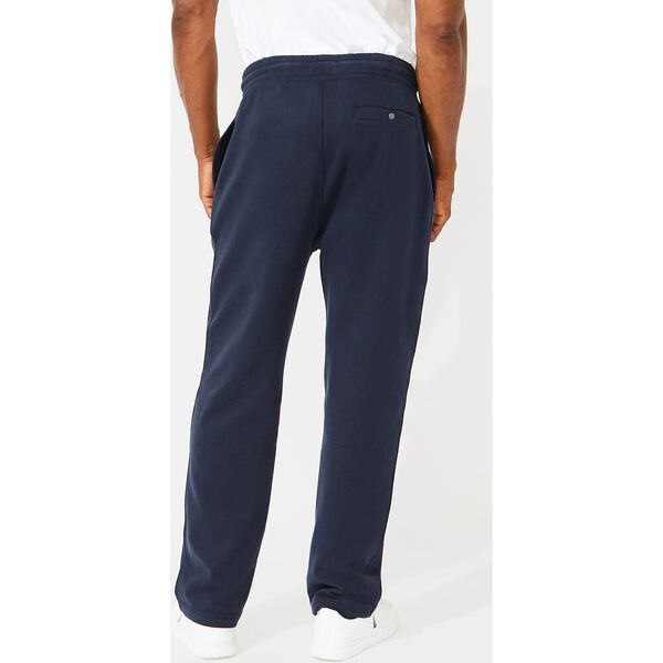 Solid Straight Leg Track Pants, Navy, hi-res