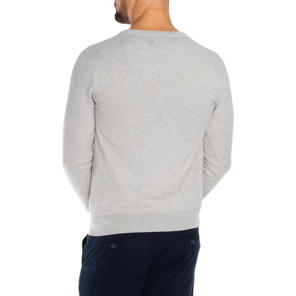 Crew Neck Navtech Sweater, Grey Heather, hi-res