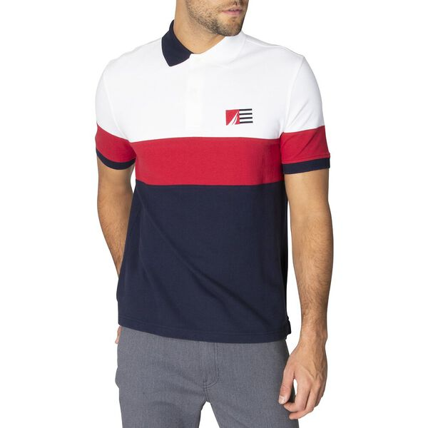 Colourblock Polo, Bright White, hi-res