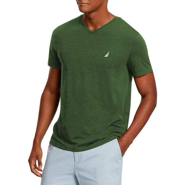 Big & Tall Anchor V Neck Tee, Pine Forest, hi-res
