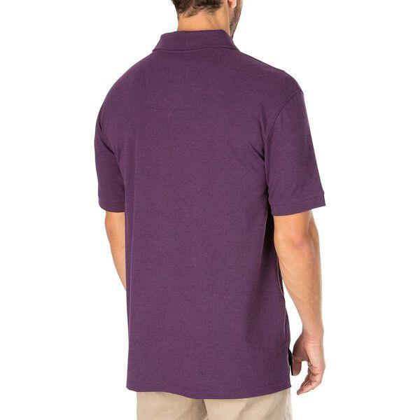 Big & Tall Short Sleeve Deck Polo, Deep Purple Heather, hi-res