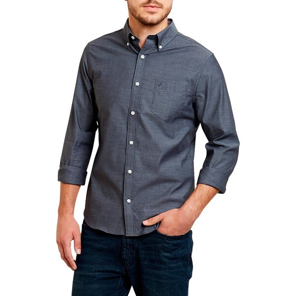Classic Fit Wrinkle Resistant Solid Colour Shirt