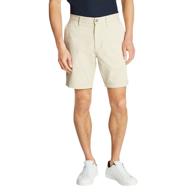 "18.5"" Classic Fit Deck Shorts With Stretch"