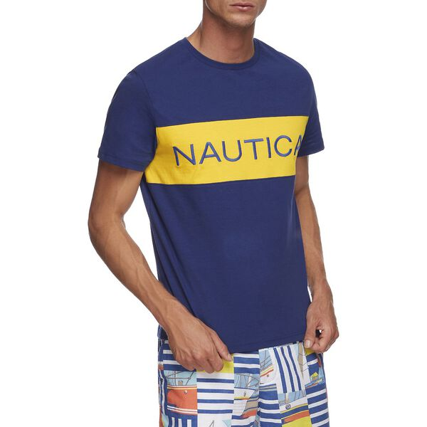 NAUTICA BLOCKED CREW NECK TEE