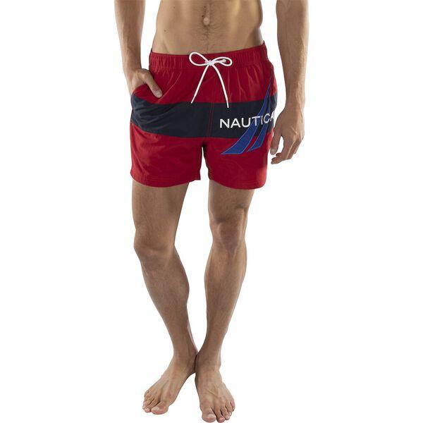 "6"" Jclass Applique Vintage Swim Short, Nautica Red, hi-res"