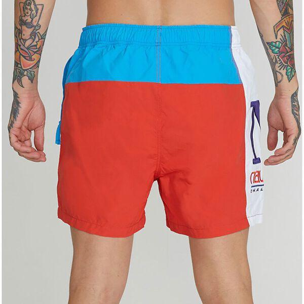 Colourblock Swim Short Aurora Red, Aurora Red, hi-res
