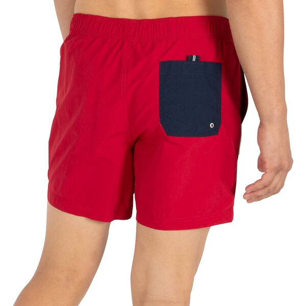 "N83 Nuatical flag 6"" Swim Shorts, Nautica Red, hi-res"