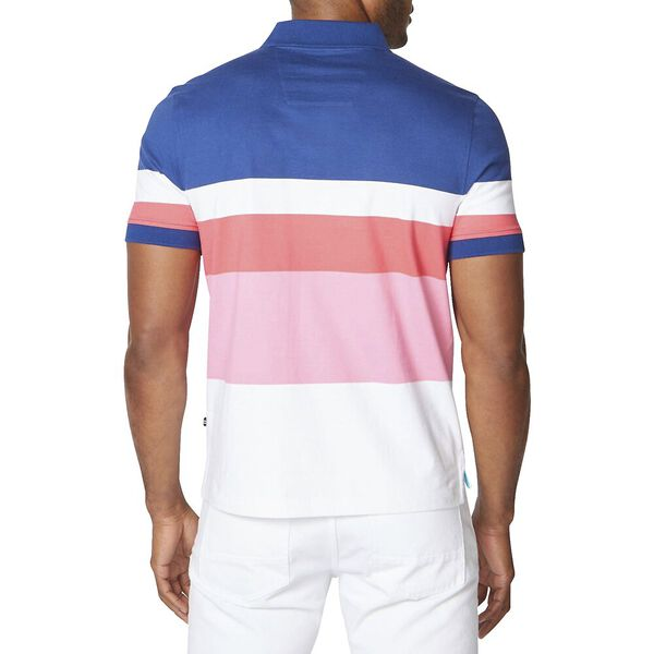 Engineered Stripe Polo, Estate Blue, hi-res