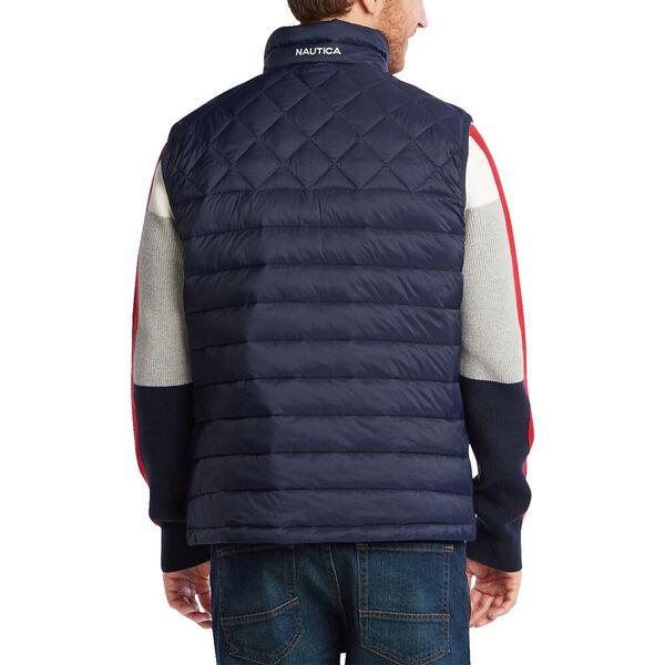 Tempashpere Quilted Light Weight Vest, Navy, hi-res