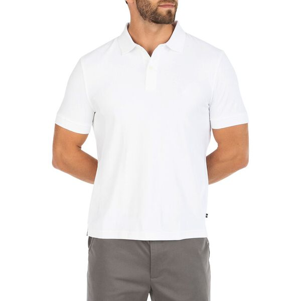 Classic Fit Premium Cotton Interlock Polo, Bright White, hi-res