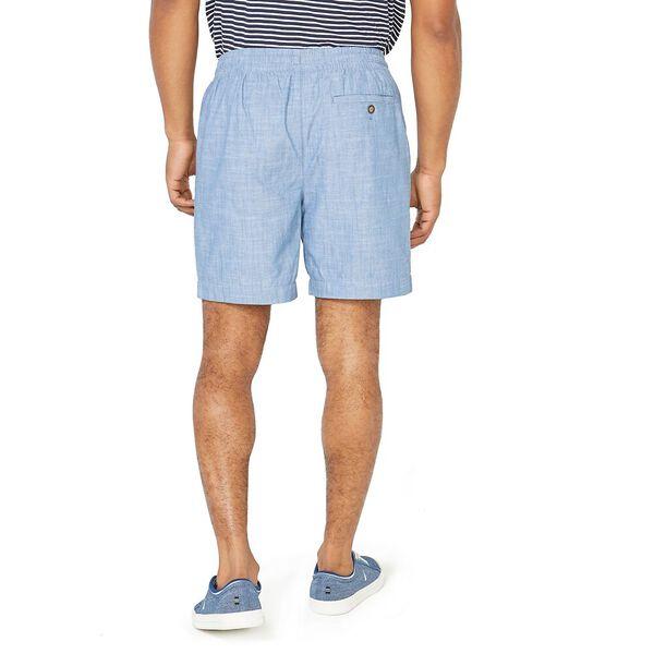 7in Textured Cotton Boardwalk Short, Bright White, hi-res