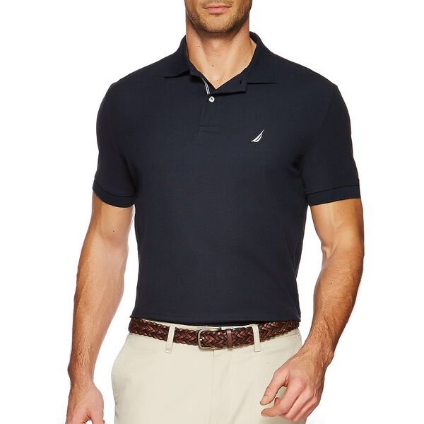SHORT SLEEVE PERFORMANCE DECK POLO SHIRT, NAVY, hi-res