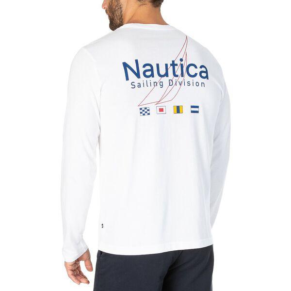 Nautica Sailing Division Long Sleeve Tee, Bright White, hi-res