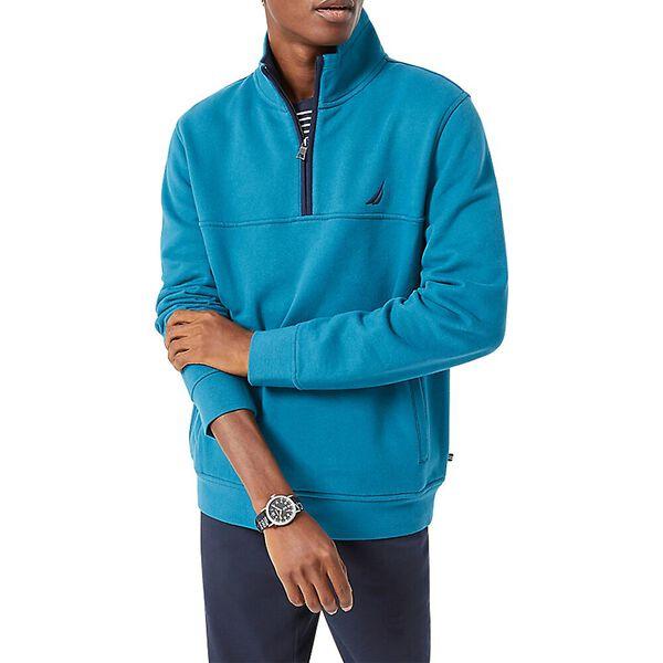 J. Class Pieced Quarter Zip Sweater, Denim Wash, hi-res