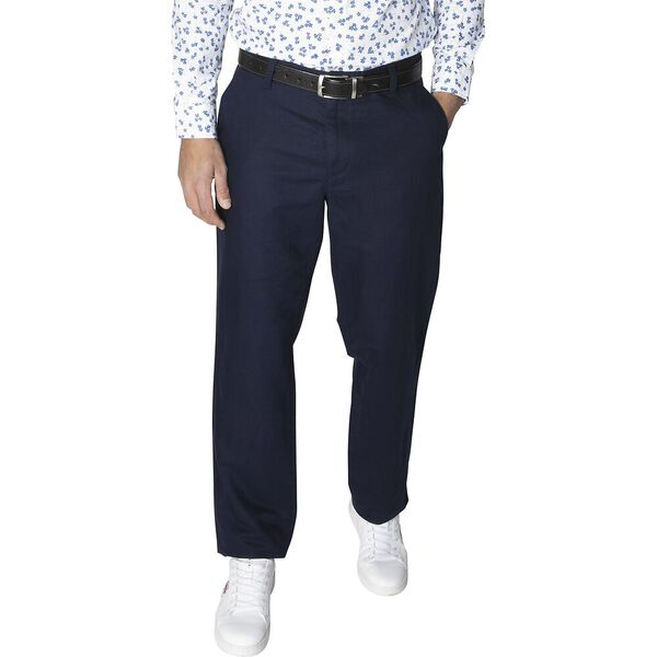 New Classic Cotton Linen Chino Pants, Navy, hi-res
