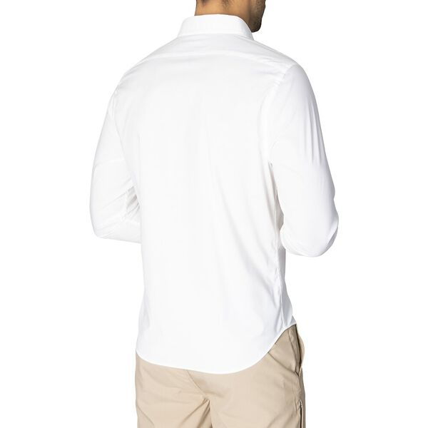 Slim Fit Solid Colour Wrinkle Resistant Shirt, Bright White, hi-res
