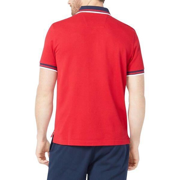 Solid Logo Polo Shirt, Nautica Red, hi-res