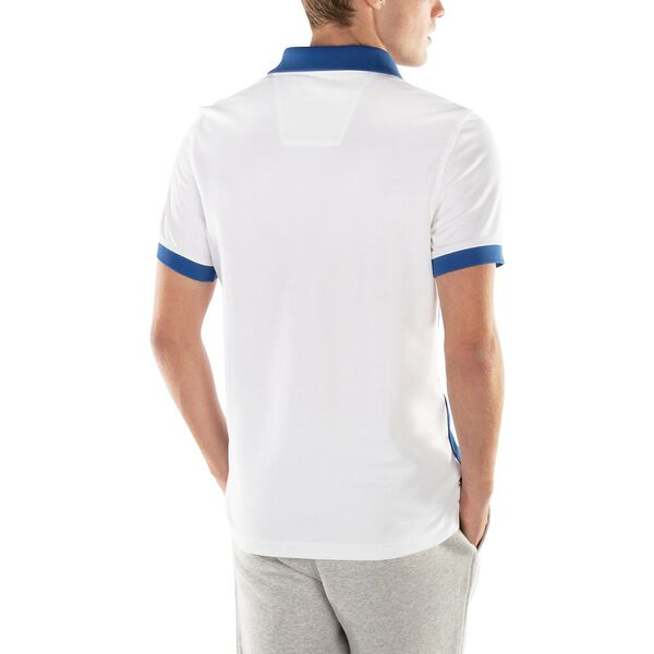 Navtech Diagonal Colourblock Polo, Bright White, hi-res