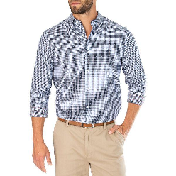 Navtech Printed Mini Check Shirt, Blue Depths, hi-res