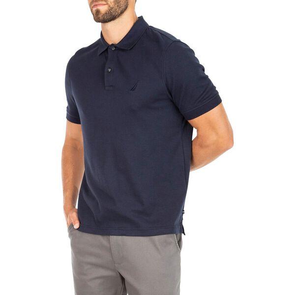 Classic Fit Premium Cotton Interlock Polo, Navy, hi-res