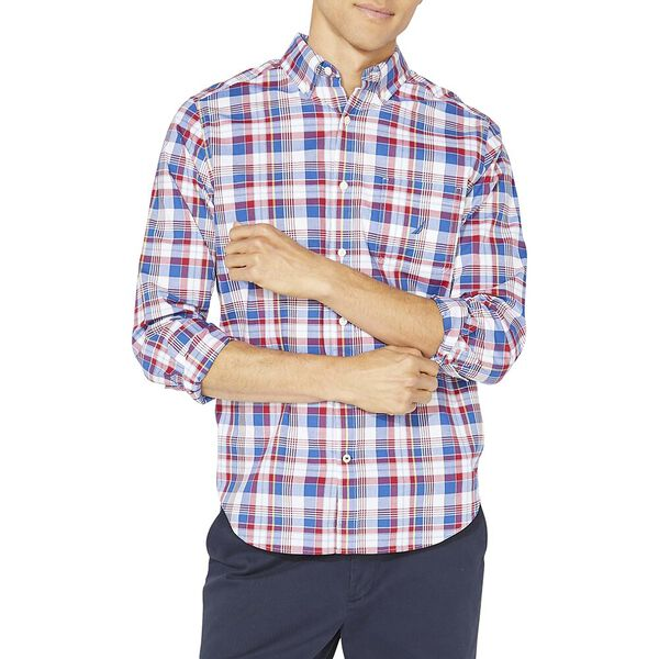 Classic Fit Long Sleeve Plaid Shirt