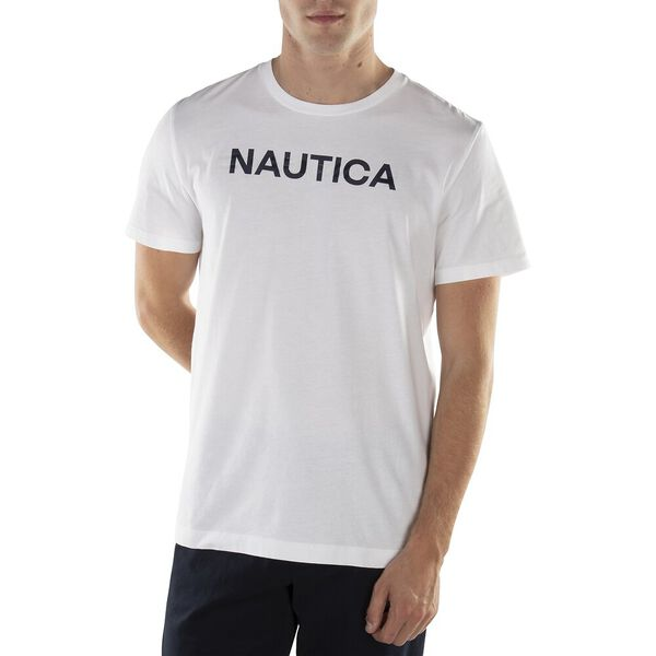 Nautica Glow In The Dark Flags Print Tee, Bright White, hi-res
