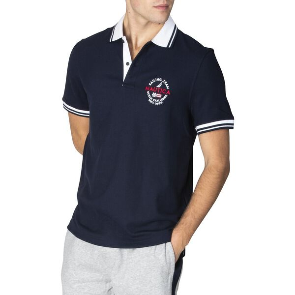 Classic Fit Ocean Challenge Polo, Navy, hi-res