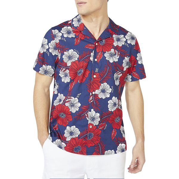 Classic Fit Nautica Jeans Co. Floral Print Shirt, J Navy, hi-res