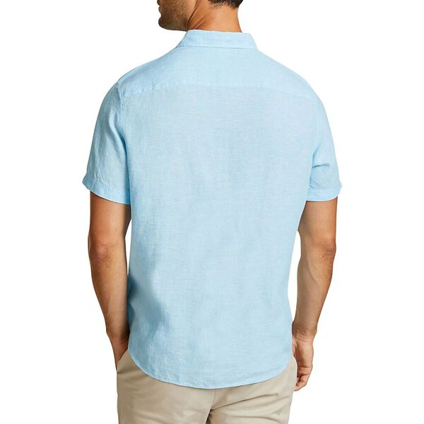 THE SHORT SLEEVE LINEN SHIRT, ALASKAN BLUE, hi-res