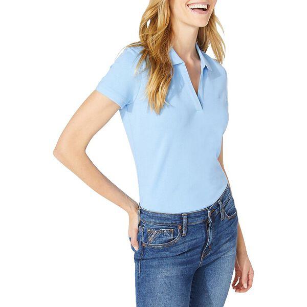 Open Collar Short Sleeve Polo Shirt