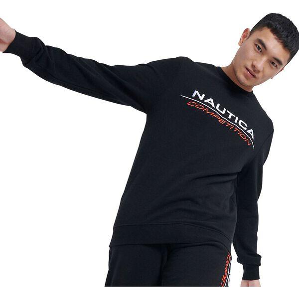Nautica Competition Collier Sweater, Black, hi-res