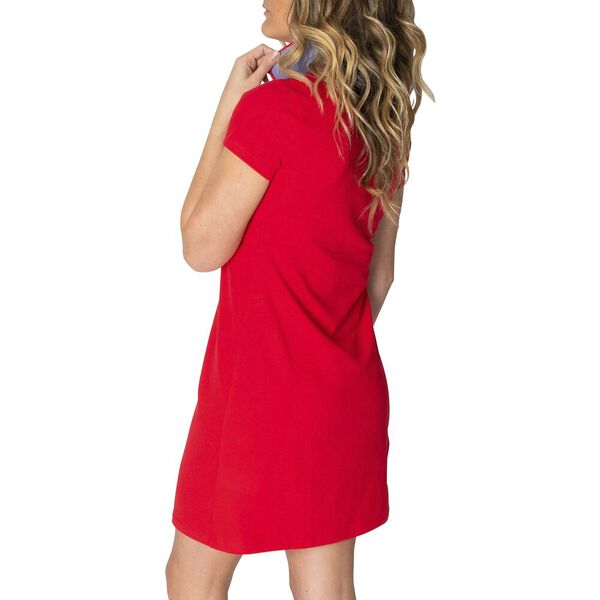 Laura Polo Dress, Bright Red, hi-res