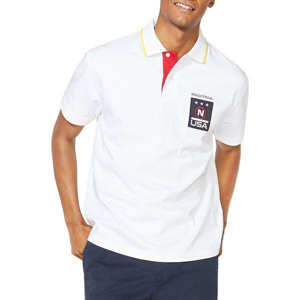 Nautica Competition Take It Back Polo, Bright White, hi-res