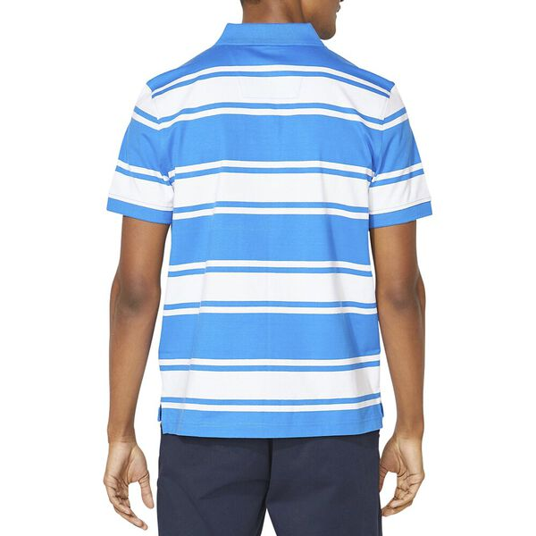 Classic Fit Striped Polo, Spinner Blue, hi-res