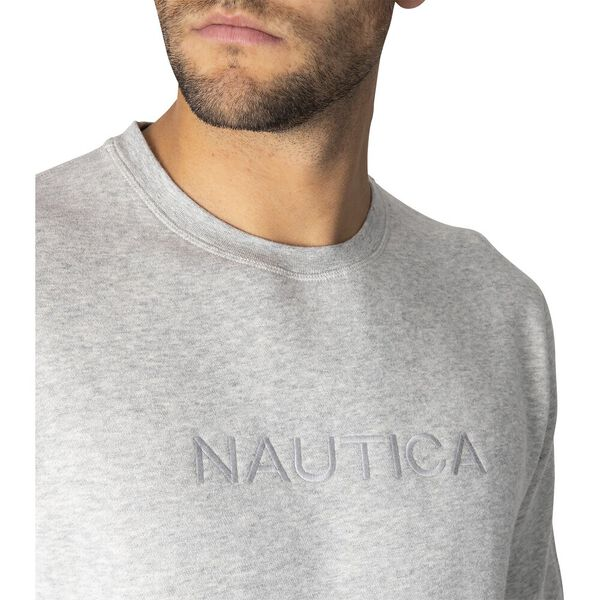 Nautica Unisex Always Ready Sweater, Grey Heather, hi-res