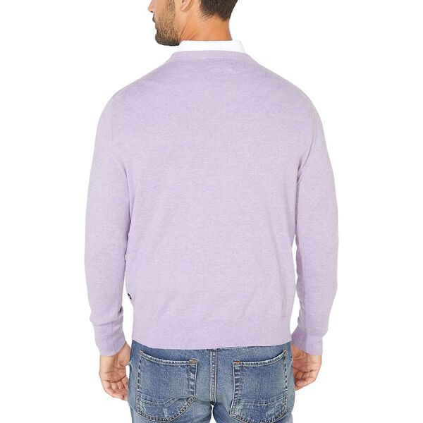 Navtech V-neck Jersey Sweater, Viola Heather, hi-res