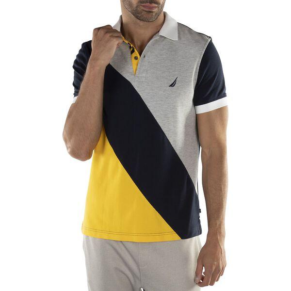 Navtech Diagonal Colorblock Polo, Navy, hi-res