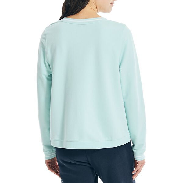 Sustainably Crafted Swing Hem Sweater, Seawater, hi-res