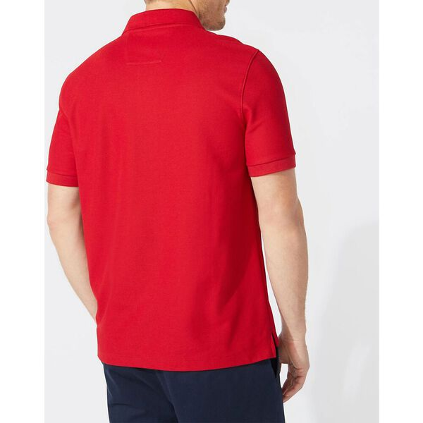 Short Sleeve Performance Deck Polo Shirt, Nautica Red, hi-res