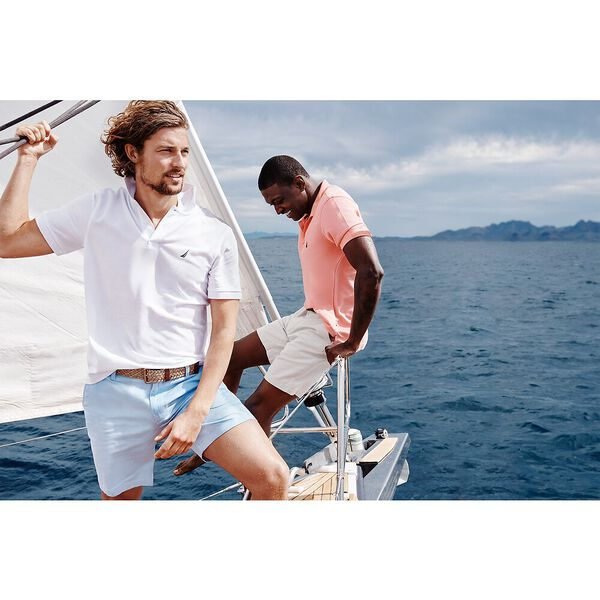 Short Sleeve Solid Deck Polo, Bright White, hi-res