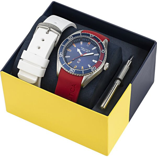 Finn World Multi Strap Box-Set Watch, Black, hi-res