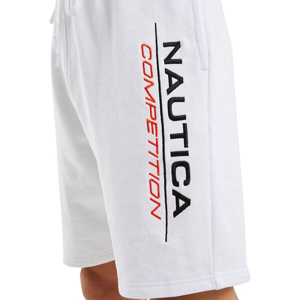 Nautica Competition Dodger Track Short, Grey Heather, hi-res