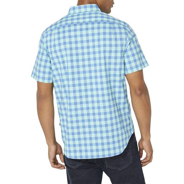 Classic Fit Plaid Poplin Short Sleeve Shirt, Mint Sprig, hi-res